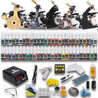 Beginner Kit tattoo kits 5 guns - Complete Tattoo Kits Machine Guns Colors Inks Sets Power Supply Needles Starter Kit D179GD