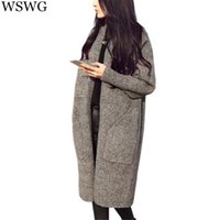american apparel wool coat - 2016 American Apparel Women Long Cardigans Winter Thickness Poncho Sweater Feminino oversized Coat Christmas Poncho Femme