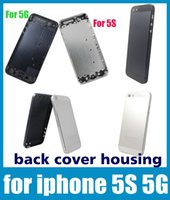 Wholesale for iphone S G black white housing with back cover cell phone housing replaceable battery housing door cover case dhl free SNP002