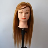 training manikins - R J Mannequin There makeup Manikin Dummy Human Hair Training Mannequin Heads With Hair Fit for Updo Make UP Curled T010