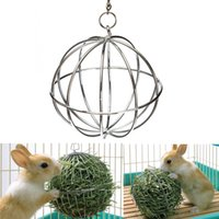 Wholesale 2015 Hot Sale Iron ball design Sphere Treat Ball Guinea Pig Hamster Rat Rabbit Feed Dispenser Ball Toy Pet Products