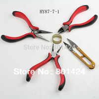 Wholesale Scissor Diagonal Flat Roll Plier Jump Ring Tool piece Jewelry Bead Making Tools set DIY pliers