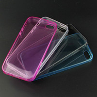 Wholesale Transparent TPU phone case Clear cover soft silicon Case Back Cover for iphone G C S For iphone G plus