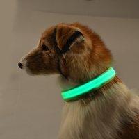 al por mayor collar de dhl llevó-El collar LED del gato LED de los collares del perro de animal doméstico colorea el envío libre DHL del collar del perro LED del collar de perro de 7 colores LED