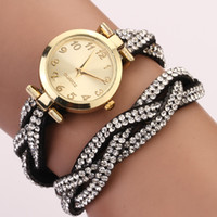 Wholesale 2014 twist long chain for women gift fashion clock designer leather quartz wrist watch new arrive XR478