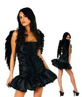 Wholesale Black Red white Pink Feather Angel Wings Sexy Costume Accessories Halloween party photography props cm cm