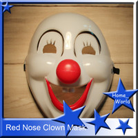 clown nose - Red Nose Clown Halloween Costume Mask Jolly Halloween Masquerade Masks Festive Party Supplies Party Masks White Black Red