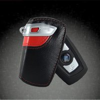 Wholesale 2015 Fashion Genuine Leather Car Key Wallet Holder Bag Cover for BMW X1 X3 X6 Z4 M3 Keychain Key Ring Case with retail package Free DHL