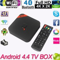Cheap Tv Receivers Android 4.4 TV Box S805 Quad Core Smart TV Box Mini PC Smart TV Media Player with Remote Controller