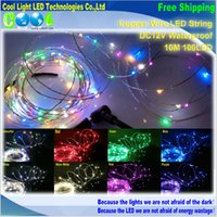 Wholesale 10m LED Copper Wire LED Strings Waterproof DC12V Starry Lights For Holiday Party Wedding Decoration