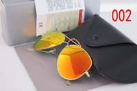 amber case - High quality Mens Womens Designer Pilot Sunglasses Glasses Gold framed glass lenses mm Box And Leather Case
