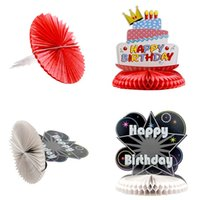 Wholesale 10 quot cm Happy Birthday Honeycomb Centerpiece Party Table Decoration Birthday Party Decorations Party Supplies