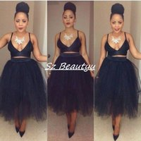 Wholesale Cheap Puffy Ball Gown Pencil Tulle Skirts For Women Plus Size High Waist Tea Length Custom Made Tutu Little Black Dresses