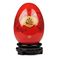 ceramic crafts - Chinese Red Articles Jingdezhen Ceramic Decorate Arts and Crafts High Quality Ceramic Eggs for Sale CPS002