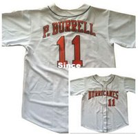 baseball pat - 30 Teams Pat Burrell Jersey University of Miami Hurricanes College Men s Authentic Stitched Throwback Baseball Jersey Grey S XL