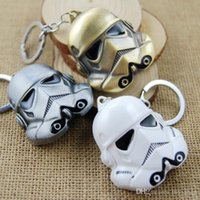 Wholesale Hot Star Wars Anakin Skywalker Keychains stormtrooper Face Mask key chains pendant Clone Trooper Zinc Alloy keychain Ring Holder COS KC018