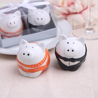 best showers - 2015 new wedding favor ceramic pig Salt and Pepper Shakers bridal shower favor gifts best wedding guest souvenirs set