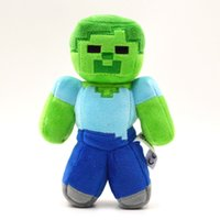 Wholesale 18cm quot Minecraft Steve Creeper Zombie Ghost Soft Plush Toy Doll Christmas Gift GAME GD