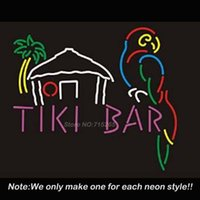 best energy bars - Tiki Bar Parrot Neon Sign Neon Bulbs Recreation Room Garage Art Neon Signs Real Glass Tube Handcraft Best Gifts Display x20