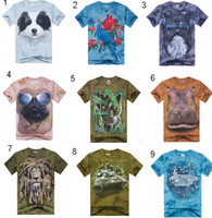 teen clothes - Men D animal print T Shirts Tees Creative men s teens cartoon cotton sport punk rock short sleeve t shirt summer beach bandhnu clothing