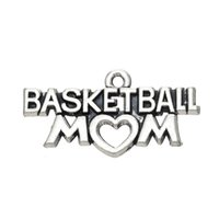 basketball mom - New Fashion Easy to diy Tibetan Silver Message Basketball Mom Charm Jewelry jewelry making fit for necklace or bracelet