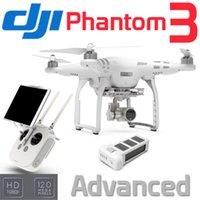 Bon Marché Dji drones de caméra fantôme-2015 nouvelle arrivée DJI Phantom 3 Advanced RC QuadCopter Drone RTF W / LightBridge Camera Gimbal GPS