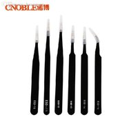 Others Others other Wholesale-6pcs Safe Anti-static Tweezers Stainless Steel Maintenance Tools ESD10-15 Eyebrow Makeup Tools & Accessories