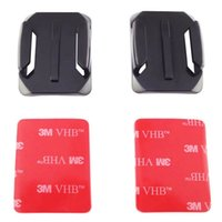 Wholesale Sticky Surfaces - Wholesale-Gopro Accessories Curved Surface 3M VHB Adhesive Sticky Mount For Xiaomi Yi SJCAM SJ4000 SJ5000 SJ5000+ GOPRO Hero 4 3+ 3 2 1
