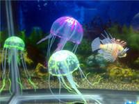 Wholesale Brand New Multicolor Vivid Glowing Effect Fluorescent Artificial Jellyfish Aquarium Fish Tank Decoration Ornament Swim Pool Bath Decor