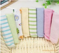 Wholesale 8 Soft Baby Newborn Children Bath Towels Washcloth for Bathing Feeding Baby Bibs Towels Gifts Pack In Stock