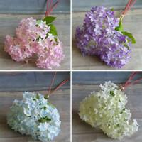 artificial flower basket arrangements - European Silk Flower Rose Branch Artificial Hydrangea Wedding Bridal Home Floral Decor Flower Arrangement DIY