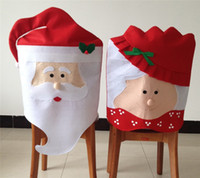 Wholesale 10Pcs New Arrival Lovely Mr Mrs Santa Claus Christmas Supplies Dining Room Table Home Party Festive Decoration