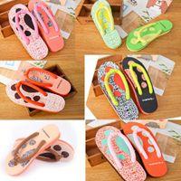 Wholesale 2015 Flip Flops Breathable Leisure Women Shoes Vamp Cotton EVA Candy Color Paw Print Flip Flops Lovely For Home Sandy Beach LN