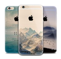 beautiful scenery paintings - Beautiful Scenery Endless Mountains Painted Transparent Soft TPU Gel Back Phone Case Cover For iPhone S Plus iPhone6 Plus