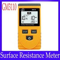 Wholesale Handheld Surface Resistance Meter Electricity Tester Resistance Temperature GM3110