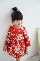 autumn plum - designer Kids Clothes Baby Toddler dress Girls Dresses spring floral Clothes tutu dresses princess plum Children fashion princessclothing