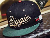 2016 nueva moda biggie strapback de béisbol ajustable sombreros y gorras para los hombres del snapback de los deportes casquillo estallido de la cadera de calidad superior barato