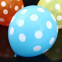 advertising air balloons - High Quality Beautiful Sky Blue Color Dots Round Balloons Advertising Balloons Air Balloons