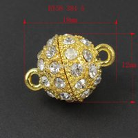 Wholesale mm rhinestone necklace magnetic clasp for making jewelry silver jewelry finding