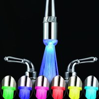 Wholesale Colorful ABS LED Glow Shower Stream Tap Thread SDF A2 LED Faucets Tap Bathroom Basin Faucet Spouts Accessories BHU2