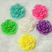 cabochons - Resin Glitter Flower Dress Flower mm Accessories Plastic AB Cabochons Flower DIY Accept Mix Color