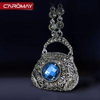 big bag filling - Kalome jewelry Korea big bag retro Crystal Palace wind Xiang Liannv luxury fashion autumn sweater chain