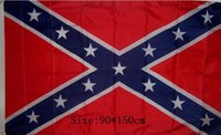 Wholesale In stock USA battle flag Two Sides Printed Flag Confederate Rebel Civil War Flag National Flag X FT