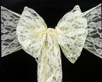 best service ivory - ivory Lace Chair Sash Wedding christmas party Decoration big discount best custom service high quality and