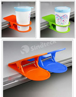 Wholesale Table Desk Cups Clip Drinklip Glass Cup Holder Mug Home Office Room Tumblerful Glass Clamp Coffee Water Stand Clip Multicolour DHL Factory