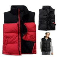 Cheap Fashion Winter Warm Women's Men's 90% Duck Down Outerwear Sleeveless Waistcoat Vest face Male Female Jacket Parka S-XXL