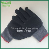 cotton working glove - Factory direct Latex coated gray cotton working glove