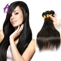 animal sheds - 7A Malaysian Straight Hair Weaves Unprocessed Virgin Human Hair Extensions Dyeable No Shedding Bundles no mixed animals furs