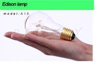 Wholesale A19 Incandescent Bulb Edison Bulbs Fixture E27 Bulbs V W Bulb Lights Antique Bulbs Edison Antique Pendent Lamp Bulbs