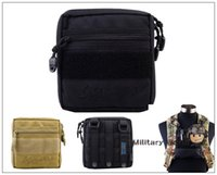 Wholesale 2pcs CALDERAGEAR Outdoor Tactical Military Airsoft Molle Utility EDC Tools Drop Pouch Accessory Pouch Waist Bag Black Tan order lt no tr